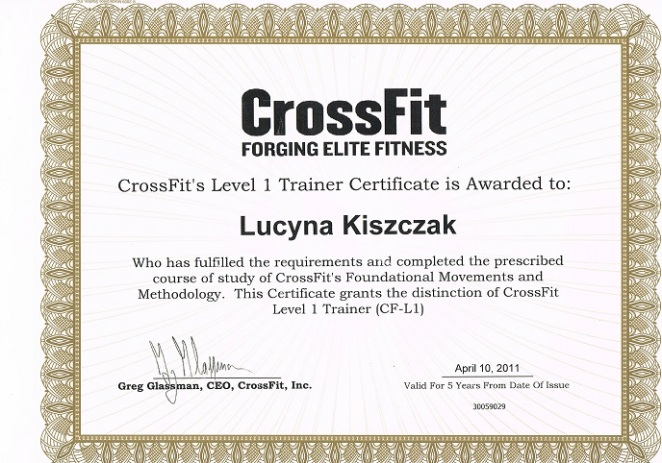 CrossFit Lv 1 Trainer Certificate, 2011 CrossFit London
